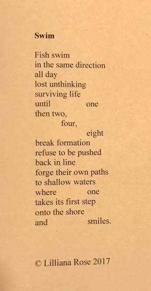 poem swim
