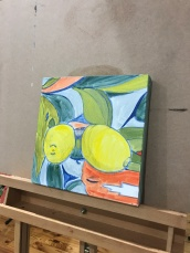 first coat of paint on lemons
